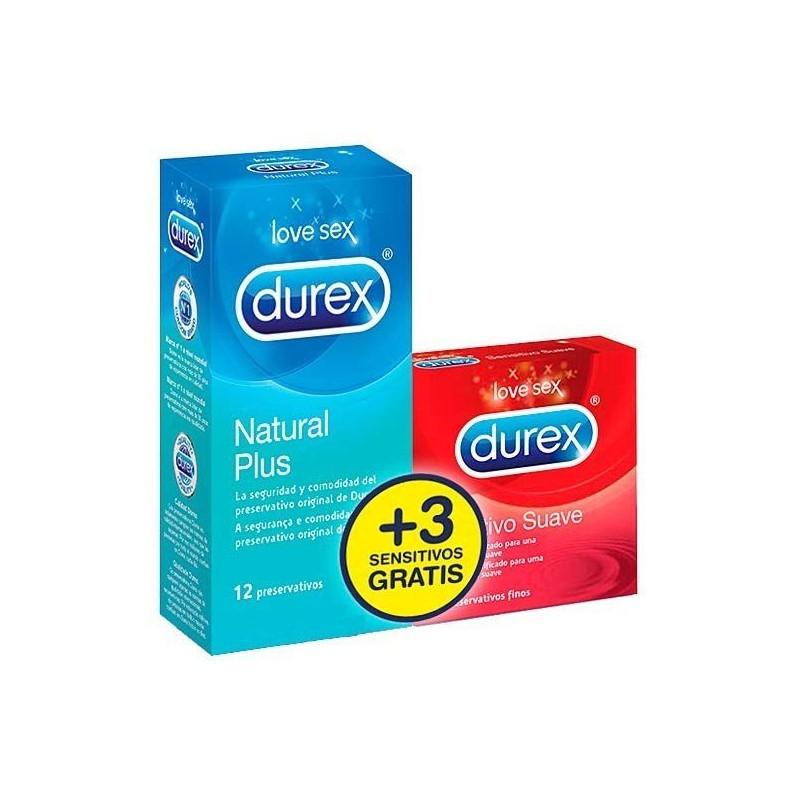 Preservativi Durex Natural + 3 Profilattici sottili gratis