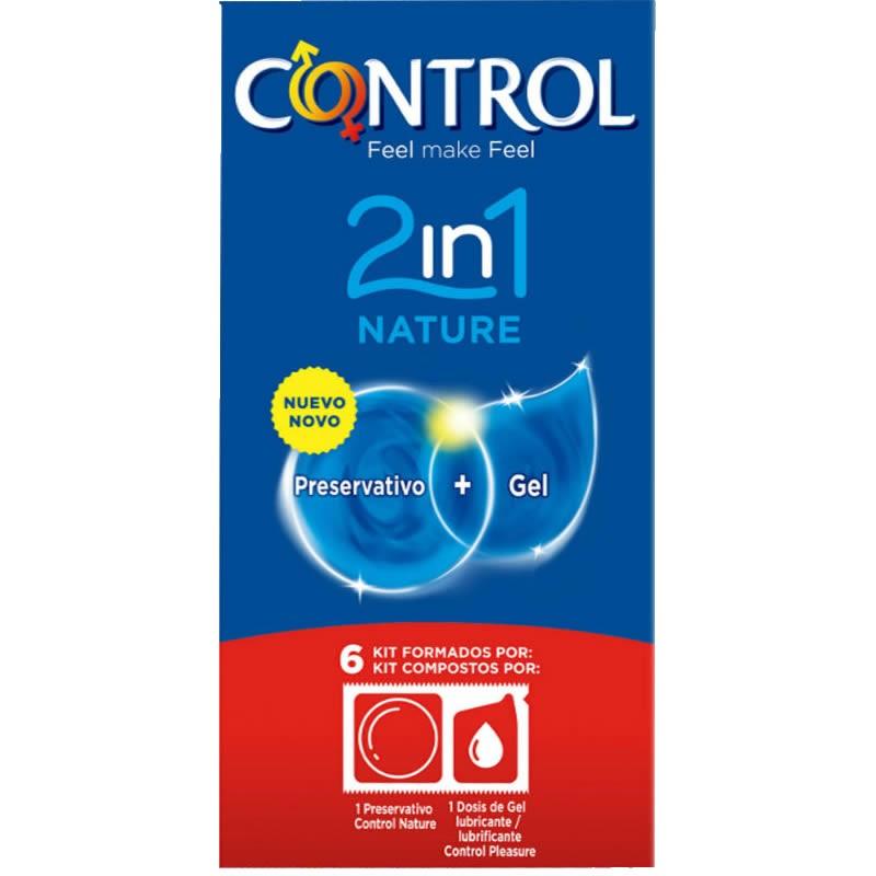 Control Nature con lubrificante monodose 2 in 1