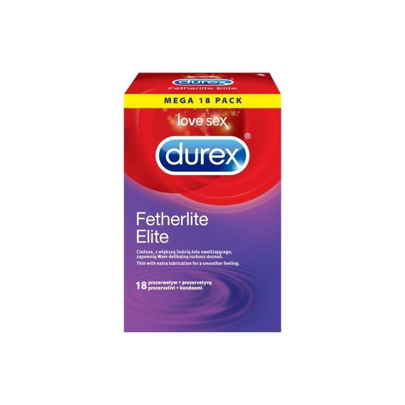 Preservativi Durex Fetherlite Elite 18 Profilattici Sottili